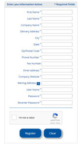 Shop Online User Name and Password Request
